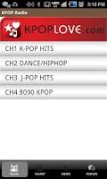 Screenshot of KPOP RADIO (KPOPLOVE.COM)