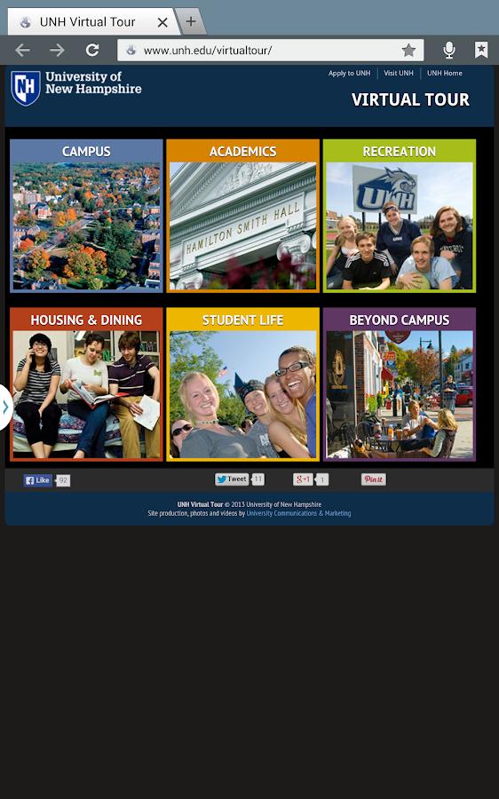 UNH Mobile - screenshot