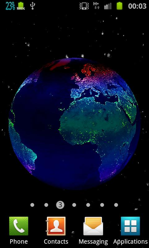 Earth At Night 3DLiveWallpaper - screenshot