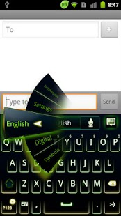 GO Keyboard Green Neon Theme - screenshot thumbnail