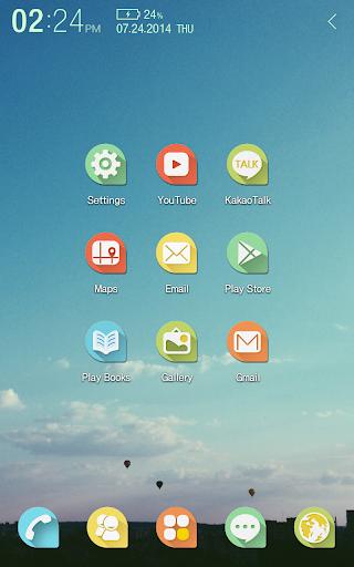 【免費個人化App】Pastel Balloon Atom Iconpack-APP點子