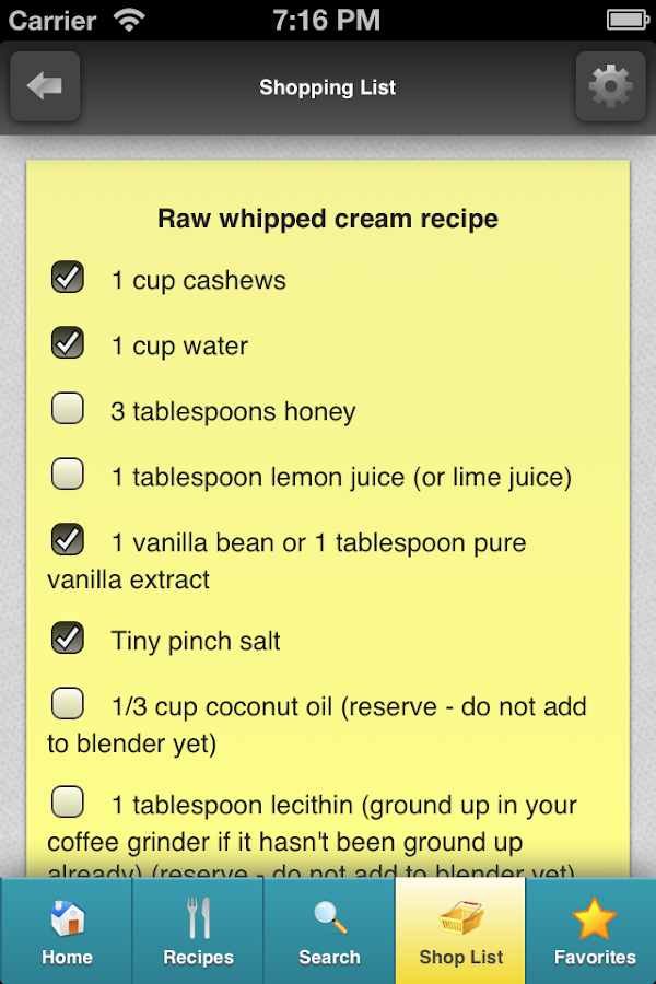 Rawtarian's Raw Recipes - screenshot