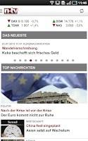 Screenshot of n-tv Nachrichten