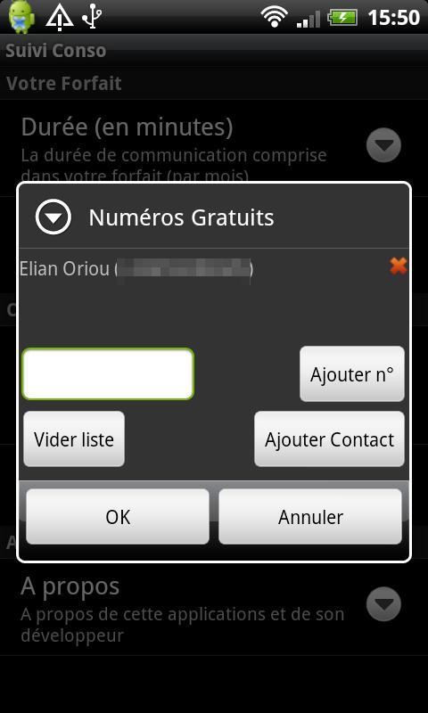 Suivi Conso- screenshot