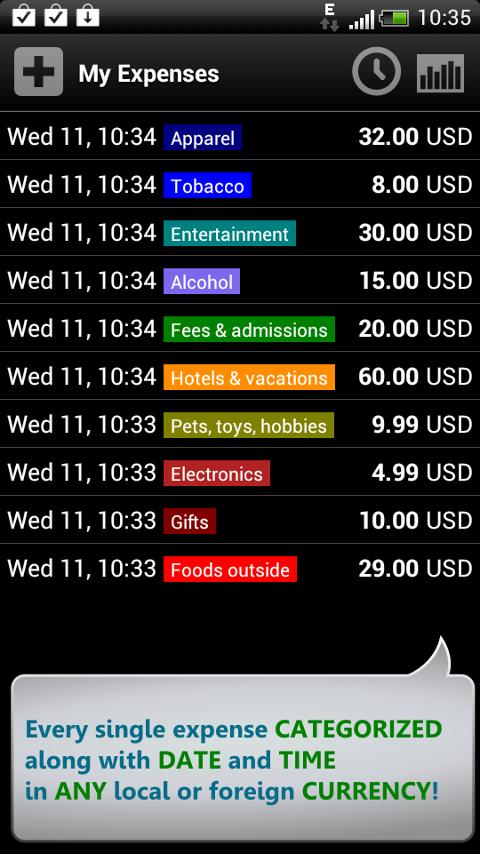 Expenses Tracker + Widget! - screenshot