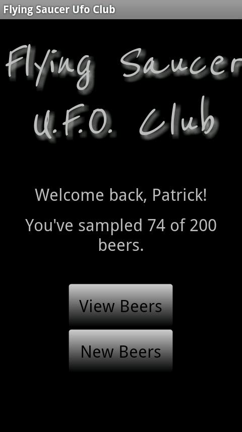 Flying Saucer U.F.O. Club - screenshot