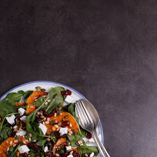 Roasted butternut salad with Danish feta, cranberries and pumpkin seeds