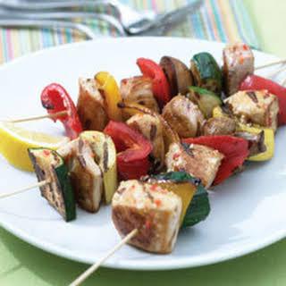 Italian Chicken & Vegetable Kabobs.