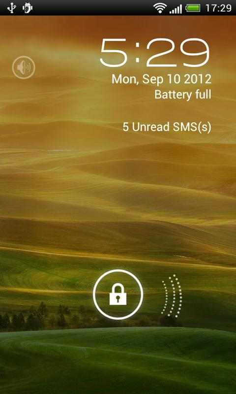 JellyBean Pro lock screen - screenshot