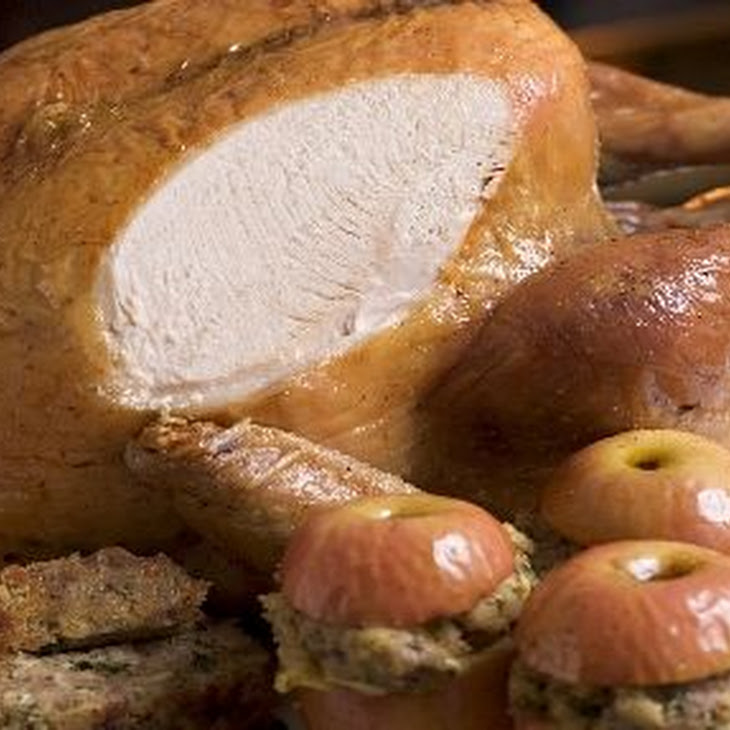 Roasted Turkey with Pork, Almond and Apple Stuffing and Marsala Gravy Recipe