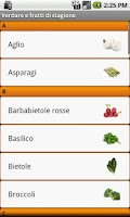 Screenshot of Verdure e frutta di Stagione