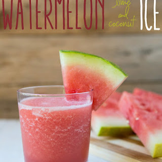 Watermelon Coconut Lime Ice Smoothies
