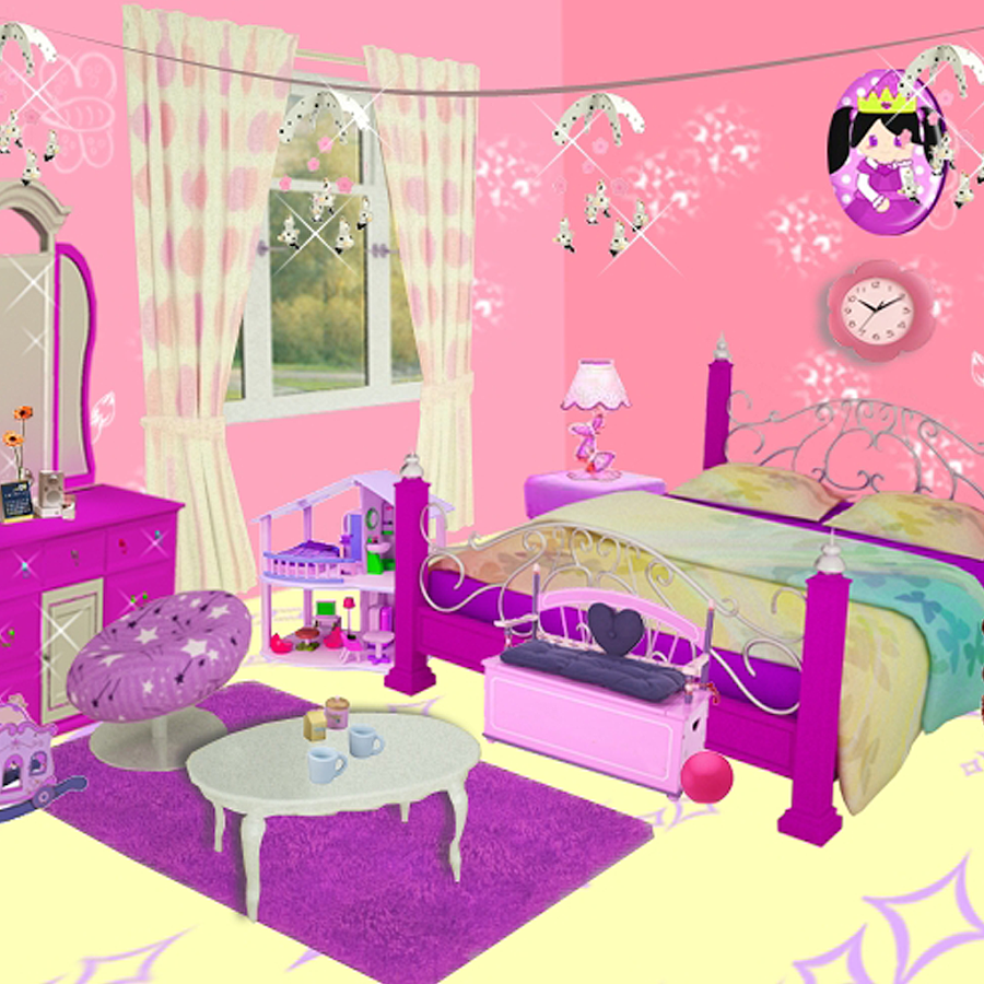 Barbie decorating room games online for All barbie house decoration games