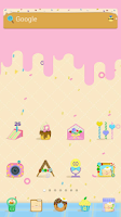 Screenshot of Candyhouse LINE Launcher theme