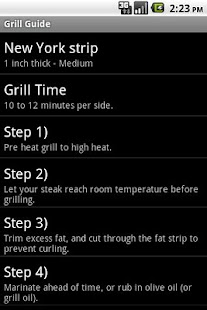 Grill Guide - screenshot thumbnail