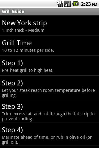 Grill Guide - screenshot
