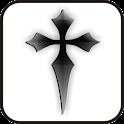 Black Cross doo-dad logo