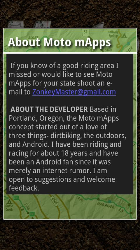Moto mApps Oregon FREE- screenshot