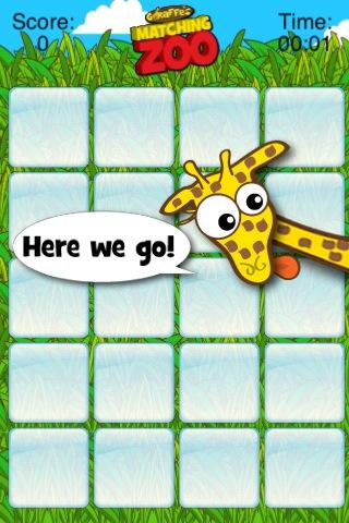 Giraffe's Matching Zoo - screenshot