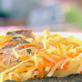 Sage Rubbed Pork Chops with Warm Apple Coleslaw Recipe