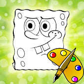 Coloring Book Kids Sponge