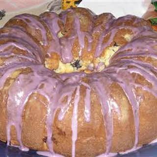 Blueberry Cream Cheese Pound Cake II.