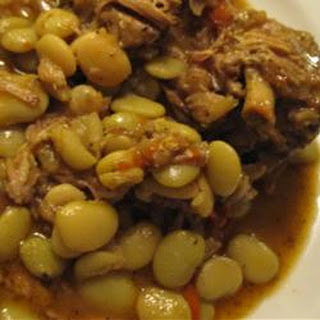 Neck Bones and Lima Beans.