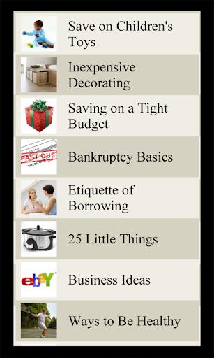 Money Saving Lists