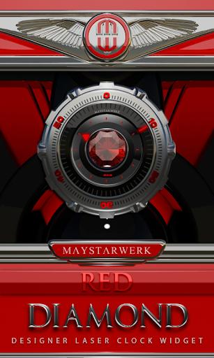 Clock Widget Red Diamond