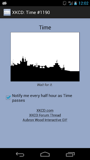 XKCD: Time 1190 Notifier