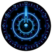 10 Blue Neon Clocks