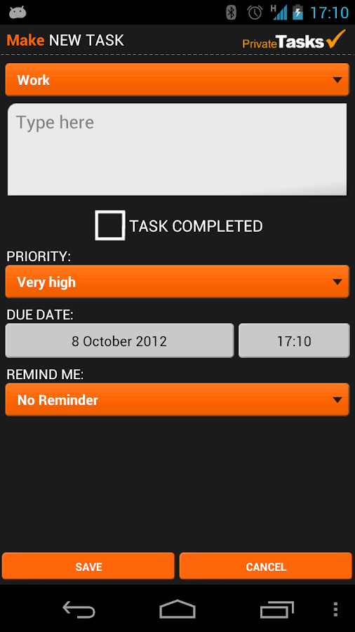 ToDo list - Private Tasks Free - screenshot