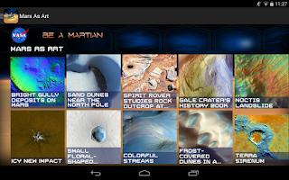 Screenshot of NASA Be A Martian