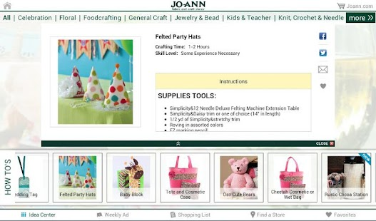 Jo-Ann Inspire for Tablets- screenshot thumbnail