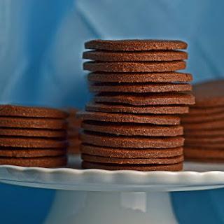 Thin & Crispy Chocolate Wafer Cookies.