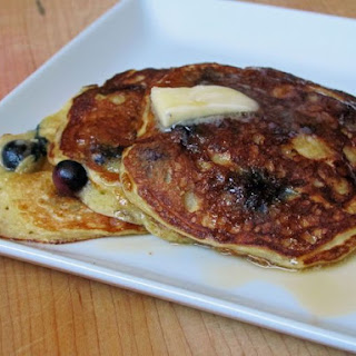 Lemon-Blueberry Yogurt Pancakes.