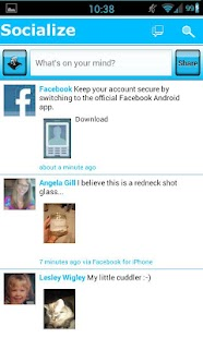Blue /W Socialize for Facebook - screenshot thumbnail