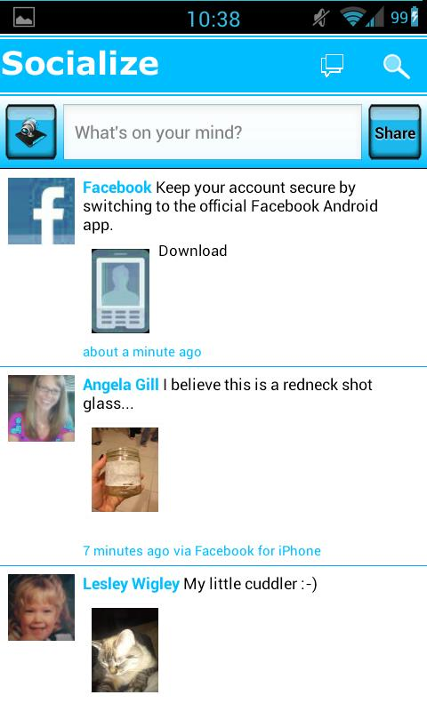 Blue /W Socialize for Facebook - screenshot