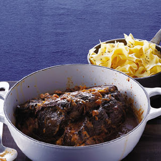 Wine-Braised Chuck Roast with Onions.