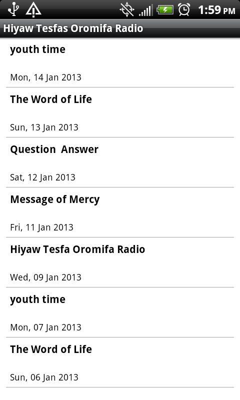 Hiyaw Tesfas Oromifa Radio - screenshot