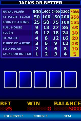 Video Poker Classic Screenshot