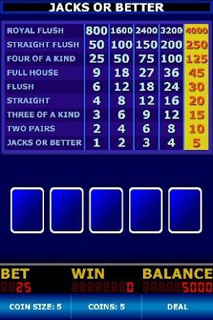 Video Poker Classic- screenshot thumbnail