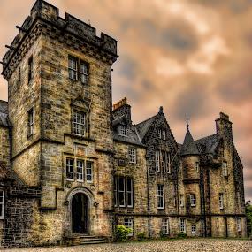Torosay Castle 2 by Stefano Landenna - Buildings & Architecture Public & Historical ( scotland, scozia, hdr, sunset, castle, torosay )