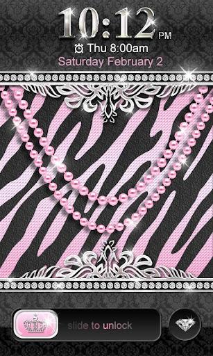 Luxury Theme Pink Zebra★Locker