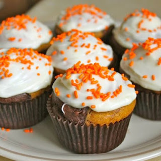 Gluten-Free Chocolate Pumpkin Marble Cupcakes