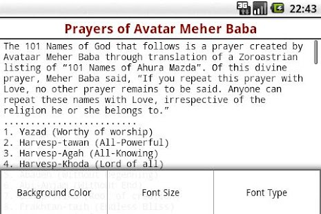 Prayers of Avatar Meher Baba- screenshot thumbnail