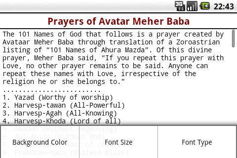 Prayers of Avatar Meher Baba- screenshot
