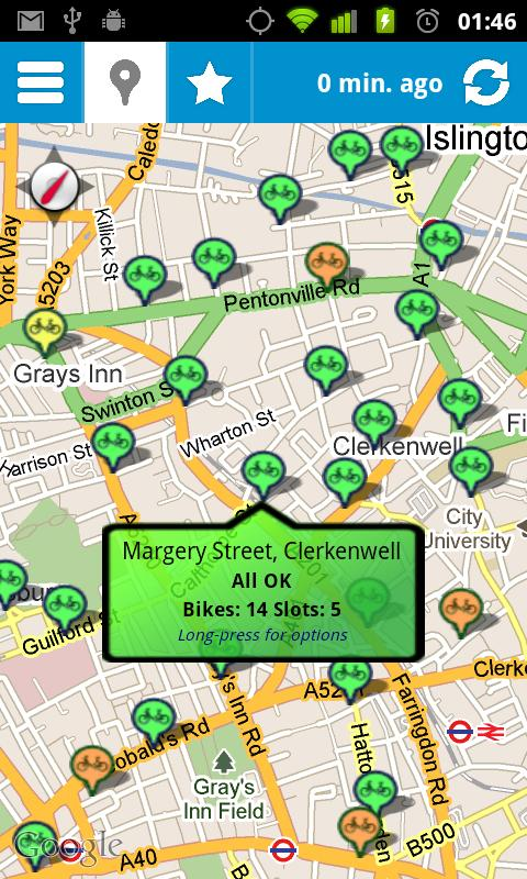 Cycle Hire Widget Lite- screenshot