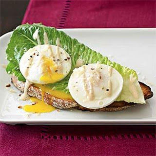 Caesar Salad with Poached Eggs