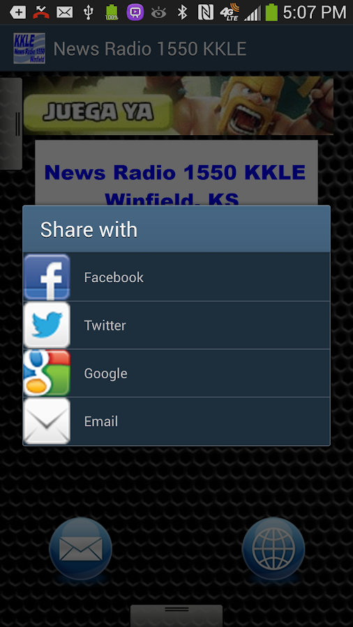 News Radio 1550 KKLE - screenshot